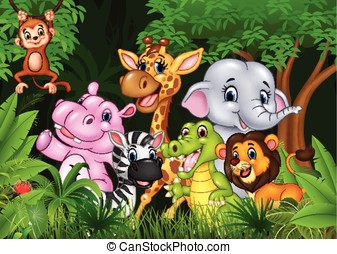 Cute animal africa in the jungle