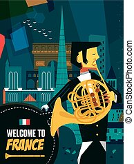 France music night poster - lovely France music night poster...