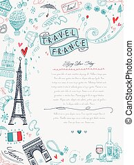 France travel poster - lovely France travel poster with...