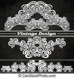 Vintage design elements on a grunge background.