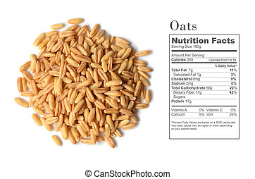 whole oat seeds - Uncooked whole oat seeds with nutrition...