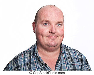 casual male face portrait on white - photo casual male face...