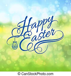 Greeting Card - Happy Easter Greeting Card. Illustration on...