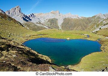 Pyrenees - Ansabere Lake. Lescun Cirque. Aspe Valley,...