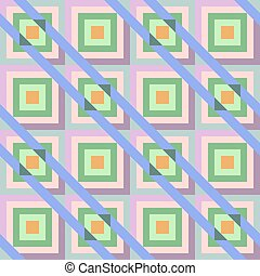Abstract seamless geometric pattern. Multicolored frames...