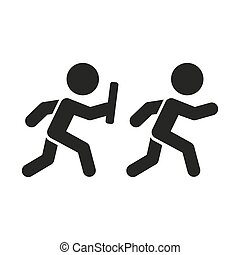 Relay Pictogram. Vector - Relay Pictogram. Two Simple...