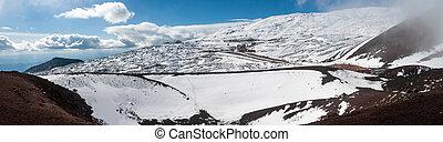etna volcano. ski resort