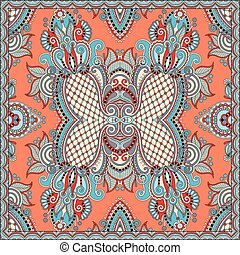 square pattern design in ukrainian style for print on fabric...