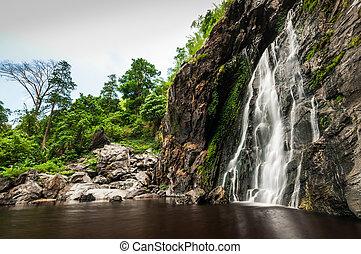 Khlong Lan waterfall of natural park, Thailand