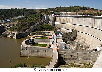 The hydroelectric power station on most bigest artfitial...
