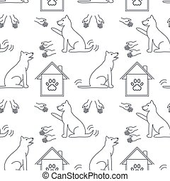 Good hands and home for dogs seamless pattern.