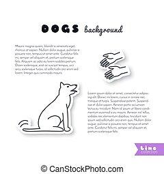 Dog adoption background.
