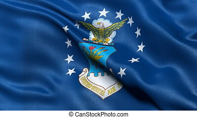 USA Air Force flag seamless loop - United States of America...