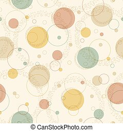 Seamless retro pattern with circles