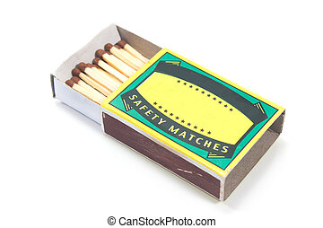Matches box isolated on white