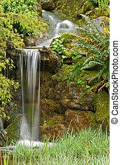 瀑布, 花園