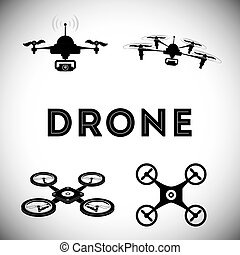 Drone icon design - Drone concept with icon design, vector...