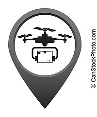 Drone icon design - Drone concept with icon design, vector...