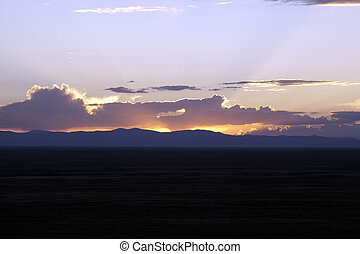 Sunset in the Sangre De Cristo Mountains.