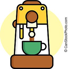coffee machine icon theme vector art illustration