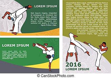 vector capoeira flyer template - Capoeira flyer template....