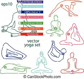 Influence of asanas for chakras - Energy scheme of human...