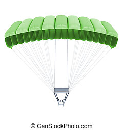 3d image of a parachute isolated on white background