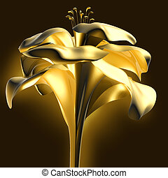 golden flower, this illustration may be useful as designer...