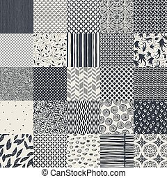 25 seamless different vector monochrome patterns Geometric,...