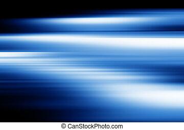 Blue motion blur