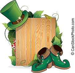 Leprechaun shoes and hat - Leprechaun shoes and bowler hat...