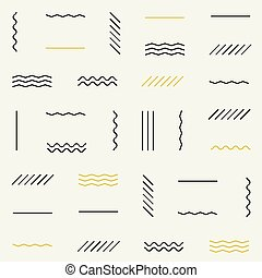 Geometric lines seamless pattern.