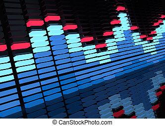 Blue Electro Equalizer - music background.