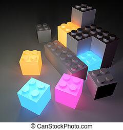 Glowing Building Blocks