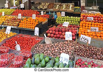 貨攤, 市場, 農夫