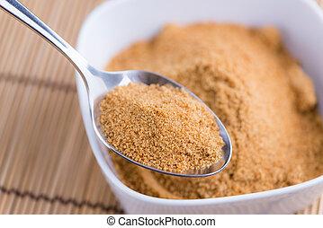 Portion of Coconut Sugar - Portion of golden Coconut Sugar...
