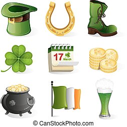 St. Patrick's Day holiday icons