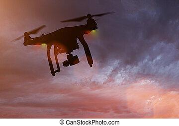 cámara,  4k, vuelo, zángano