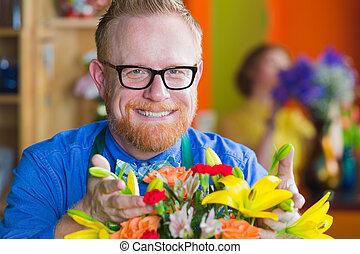 Handsome Flower Shop Owner