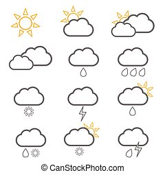 weather icon with sun illustration