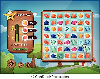 Switcher Game User Interface For Tablet Pc