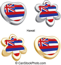hawaii flag heart and flower