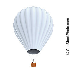 Hot Air Balloon isolated on white background. 3D render