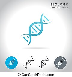 biology blue icon