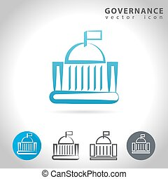 governance blue icon - Governance icon set, collection of...