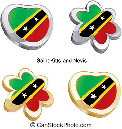 saint kitts and nevis flag heart