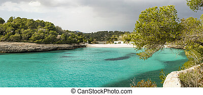 emerald cove in Mallorca, Balearic Islands