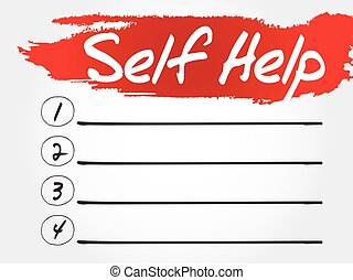 Self Help blank list, health concept