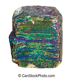 piece of iridescent pyrite mineral stone