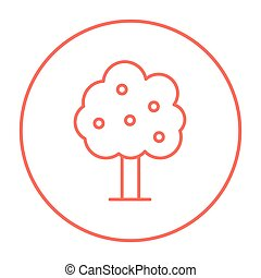 Fruit tree line icon - Fruit tree line icon for web, mobile...